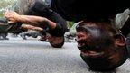 Thai police commandos participate an anti terrorism exercise at Crime Suppression Division in Bangkok