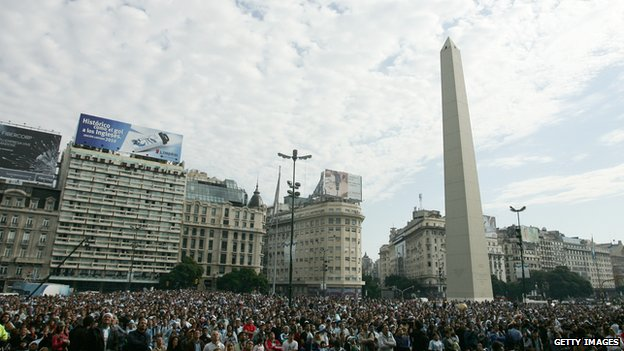 The Obelisk in Buenos Aires' Plaza de la Republica
