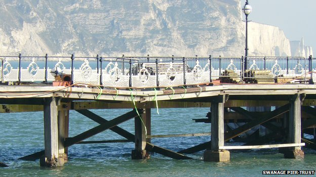 Damage to Swanage Pier