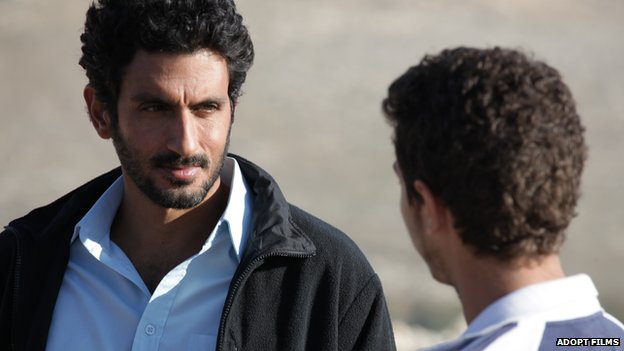 The character, Razi, an Israeli intelligence agent speaks to a Palestinian teenager, Sanfur in the movie Bethlehem