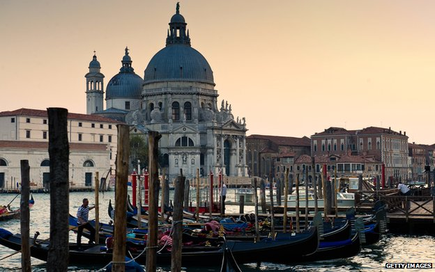 View of the Santa Maria della Salute church in Venice, Italy (2011)