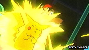 A still from the Pokemon cartoon