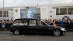 Hearse at Deepdale Stadium