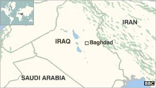 Map of Iraq and Baghdad