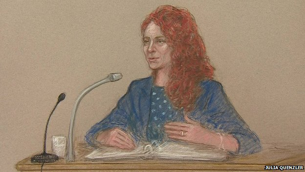 A court sketch of Rebekah Brooks