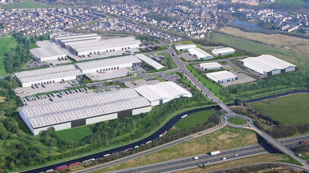 Artist's impression of the completed Burnley Bridge Business Park