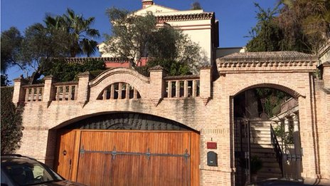 The plush Marbella home of one of the suspects targeted by police