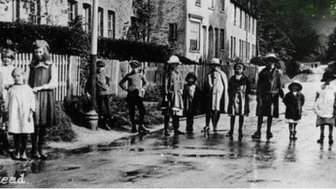 A street scene from World War One