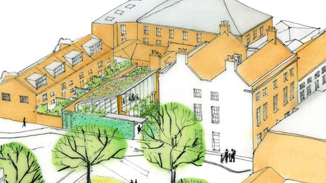 Artist's impression of new writers' centre