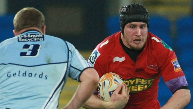 Ben Morgan in action for Scarlets