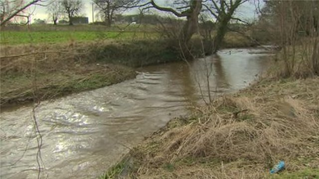 Clywedog River in Wrexham