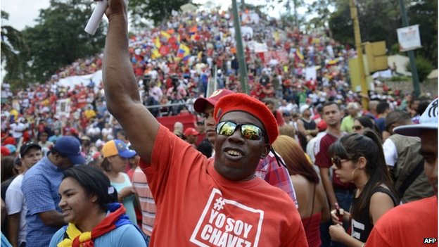 Pro-government demonstration in Caracas, Venezuela