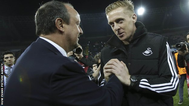 Rafa Benitez and Garry Monk