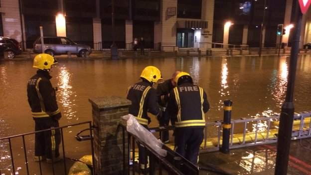 London Fire Brigade said it had sent firefighters to the scene