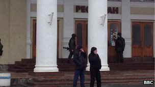 Armed men at Simferopol airport