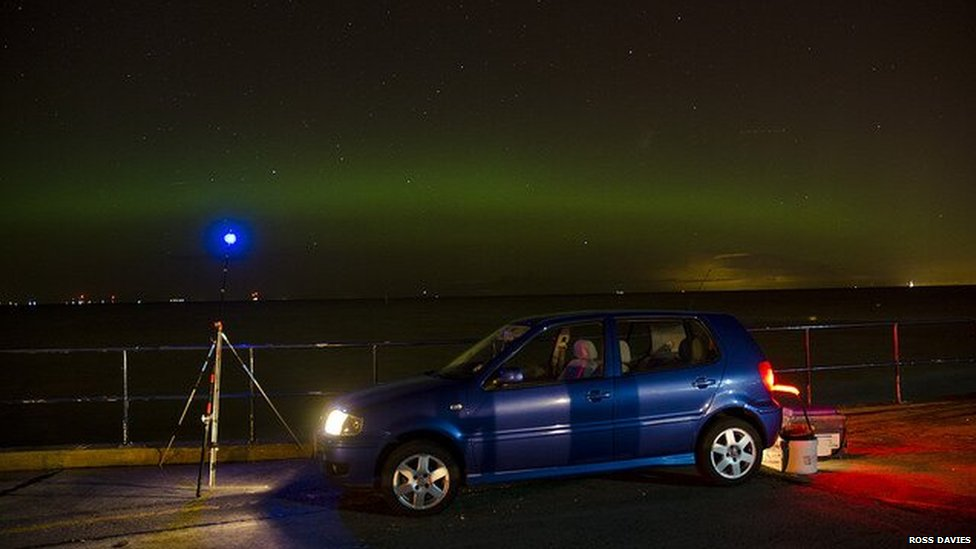 Northern Lights at Prestatyn, Denbighshire