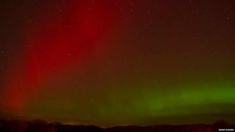 Northern Lights at Talacre, Flintshire