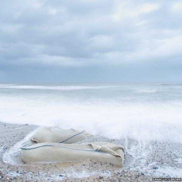 Beach at Thorpeness in Suffolk
