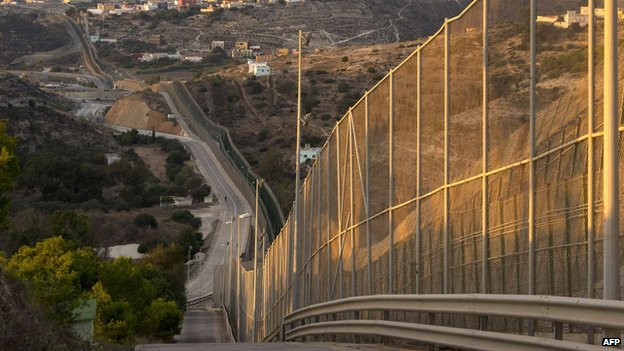 Melilla border fence - file pic