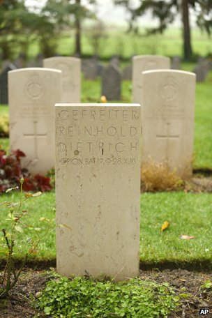 German graves at the St Symphorien cemetery in Mons
