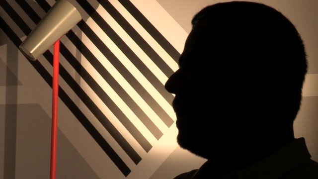 Man in shadow profile