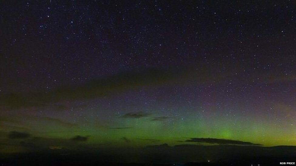 Northern Lights near Machynlleth, Powys