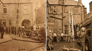 Firefighters recreate historic image
