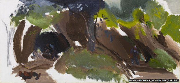 Ivon Hitchens - Two Woodsmen