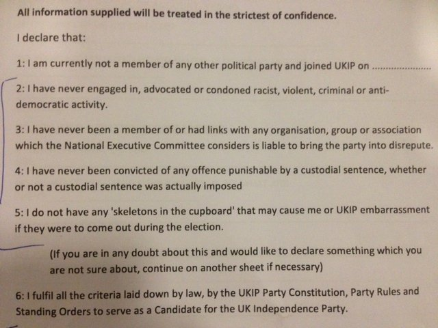 UKIP form