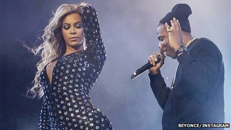 Beyonce and Jay-Z at the O2