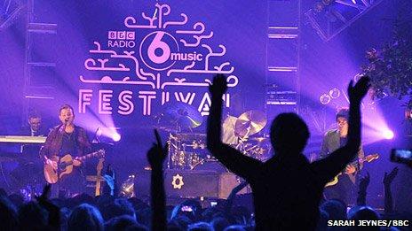 Damon Albarn at the BBC 6 Music Festival