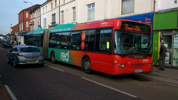 A Cardiff Bus in Canton