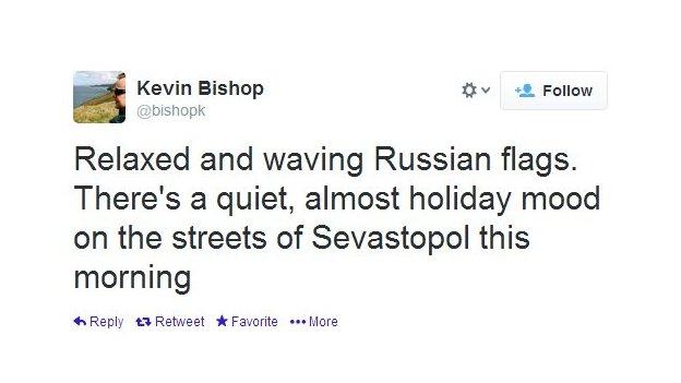 Kevin Bishop captures the mood in Crimea