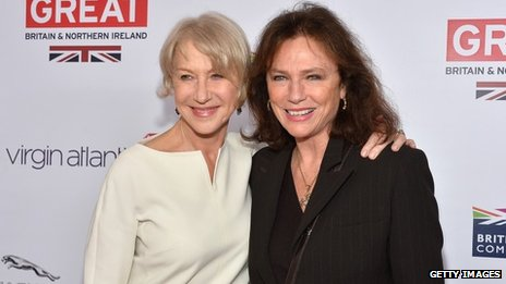 Dame Helen Mirren and Jacqueline Bisset