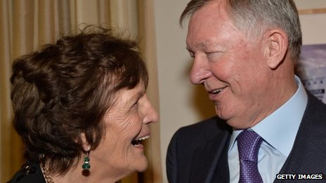 Philomena Lee and Sir Alex Ferguson