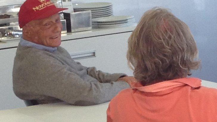 Niki Lauda and Keke Rosberg