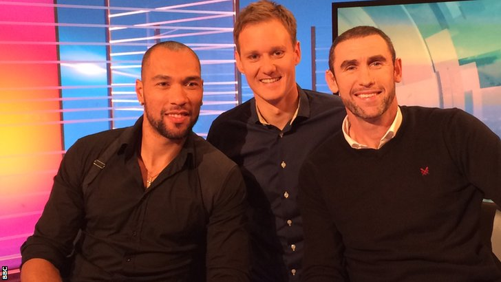 John Carew, Dan Walker and Martin Keown