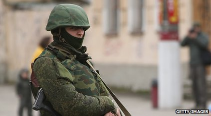 Unidentified soldier in Crimea