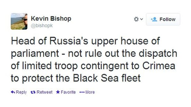 The Russian parliament is calling for boots on the ground to protect its Black Sea fleet