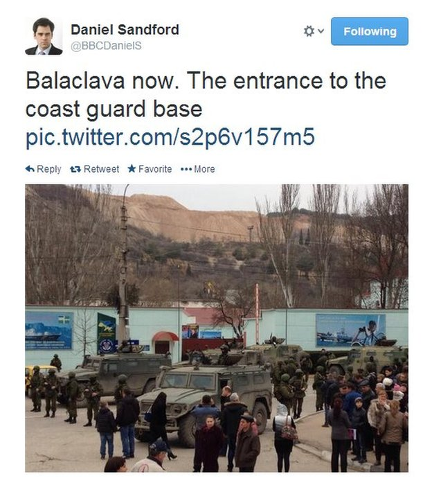 The tension in Crimea is increasingly militarised