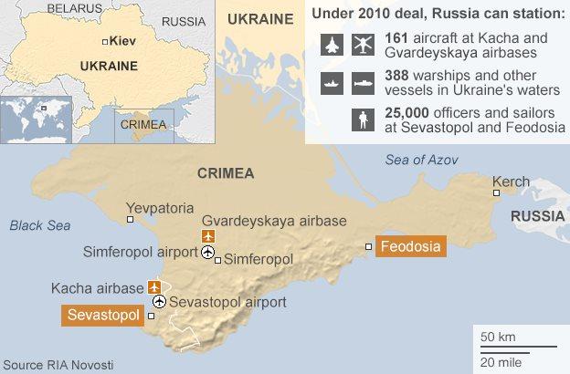 Map of the Crimean peninsula