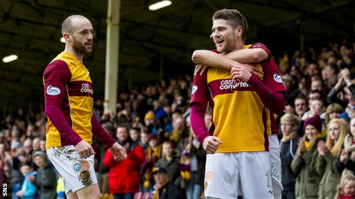Iain Vigurs put Motherwell in front with a superbly worked goal at Fir Park