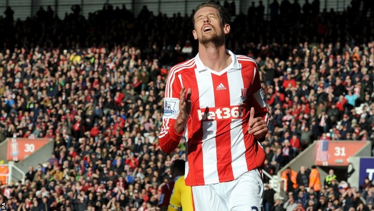 Stoke striker Peter Crouch