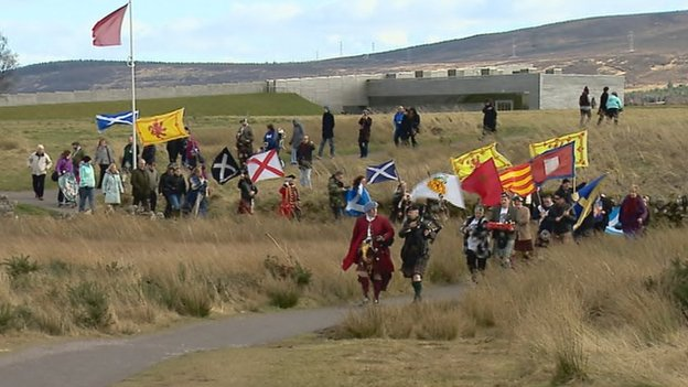 Protest at Culloden