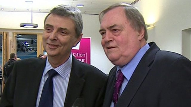 Dave Prentis and Lord Prescott