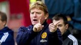Stuart McCall watches Motherwell beat Hearts 4-1.