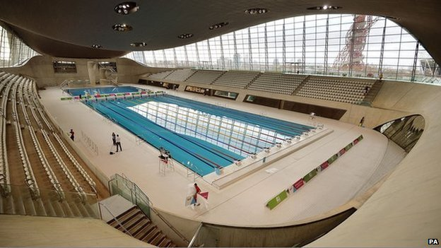London Olympic Park Aquatics Centre Reopens Bbc News