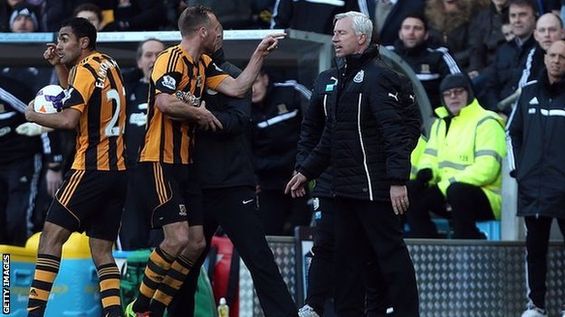 David Meyler and Alan Pardew
