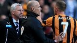 Alan Pardew and David Meyler