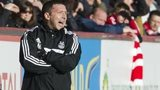 Derek McInnes urges his Aberdeen side on against St Johnstone